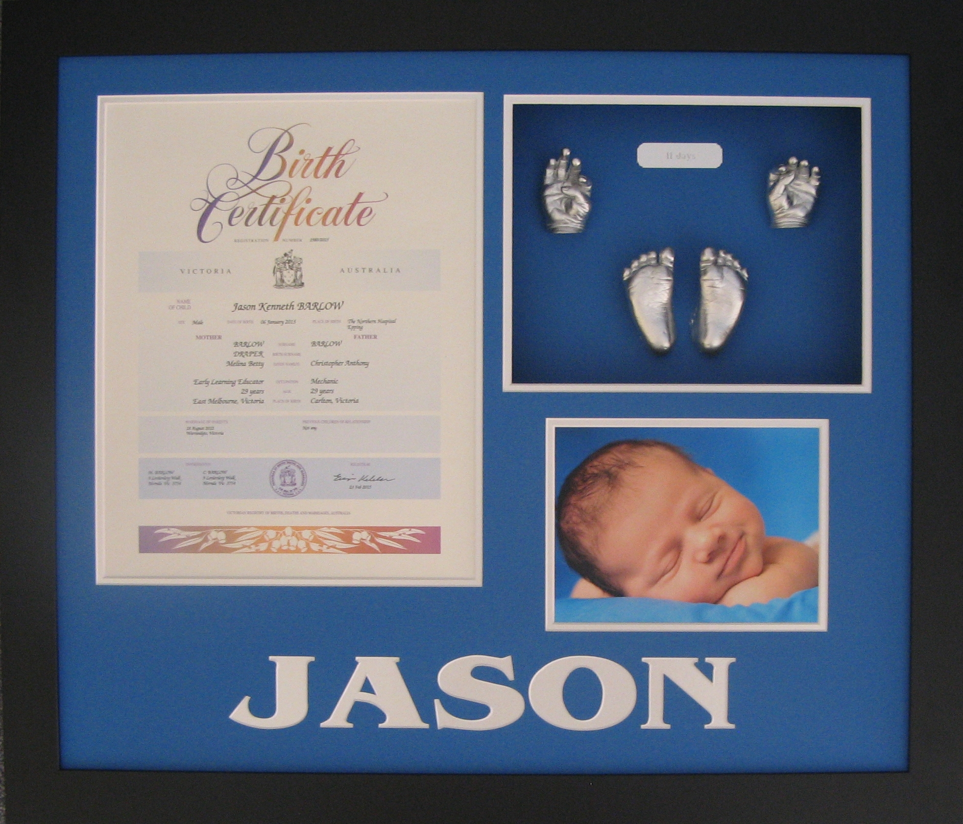 Personalised commemorative birth certificate shadowbox frames 10 personalised commemorative birth certificate shadowbox frames 10 little piggies aiddatafo Choice Image